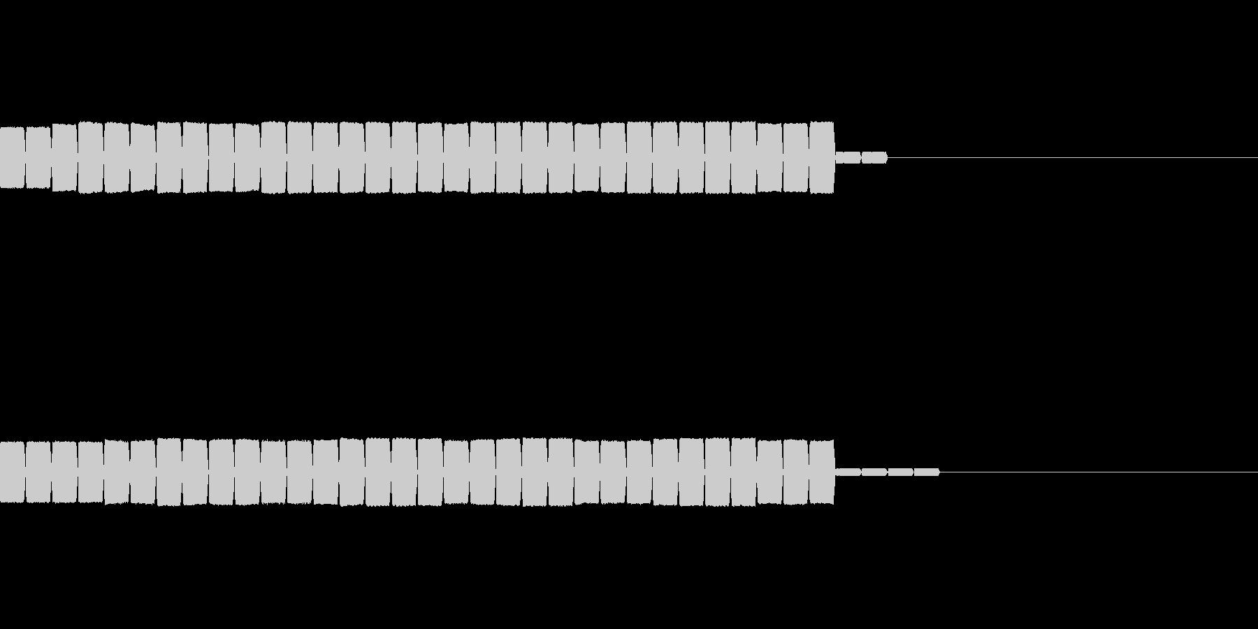 クリア後の点数の加算時の効果音の未再生の波形