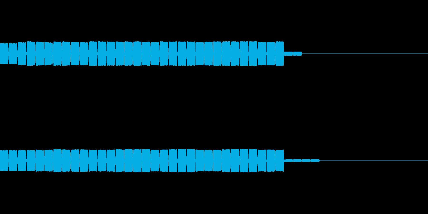 クリア後の点数の加算時の効果音の再生済みの波形