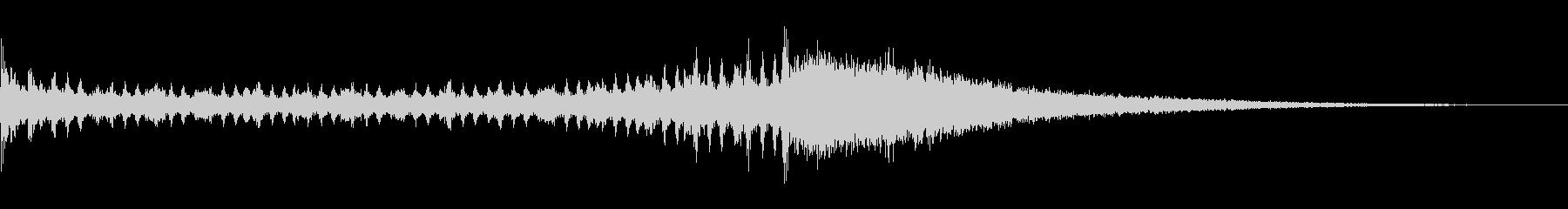 ドラムロールとシンバル 1の未再生の波形