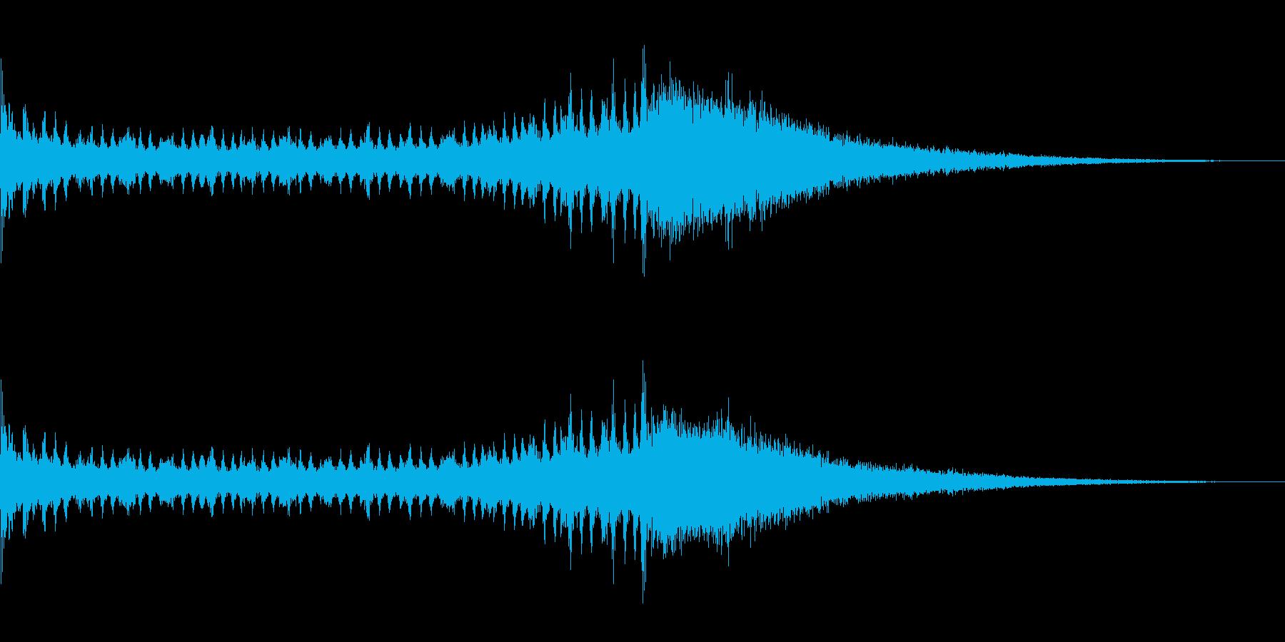 ドラムロールとシンバル 1の再生済みの波形