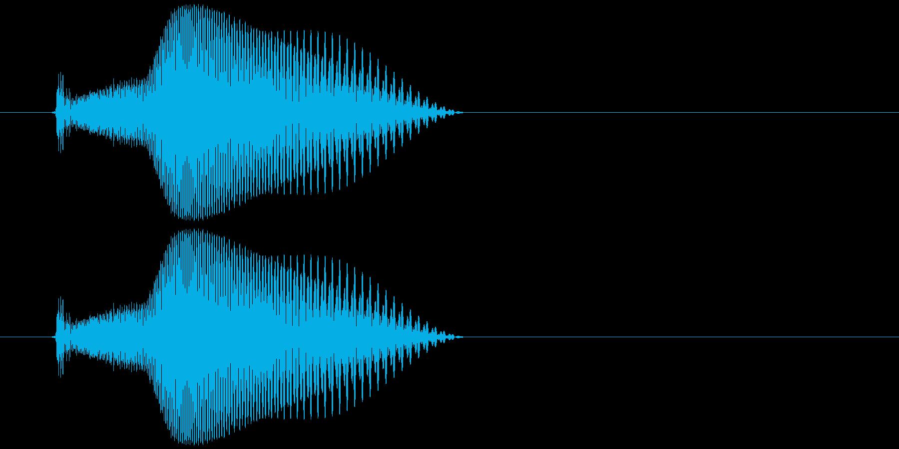 シューティングゲーム_弾_発射音1の再生済みの波形