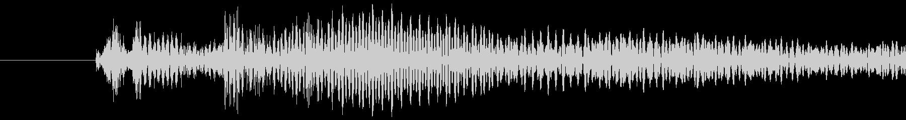 ピュイッ(キャンセル・決定音)の未再生の波形
