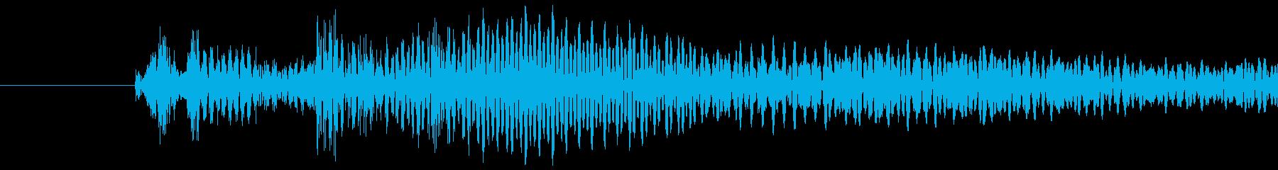 ピュイッ(キャンセル・決定音)の再生済みの波形
