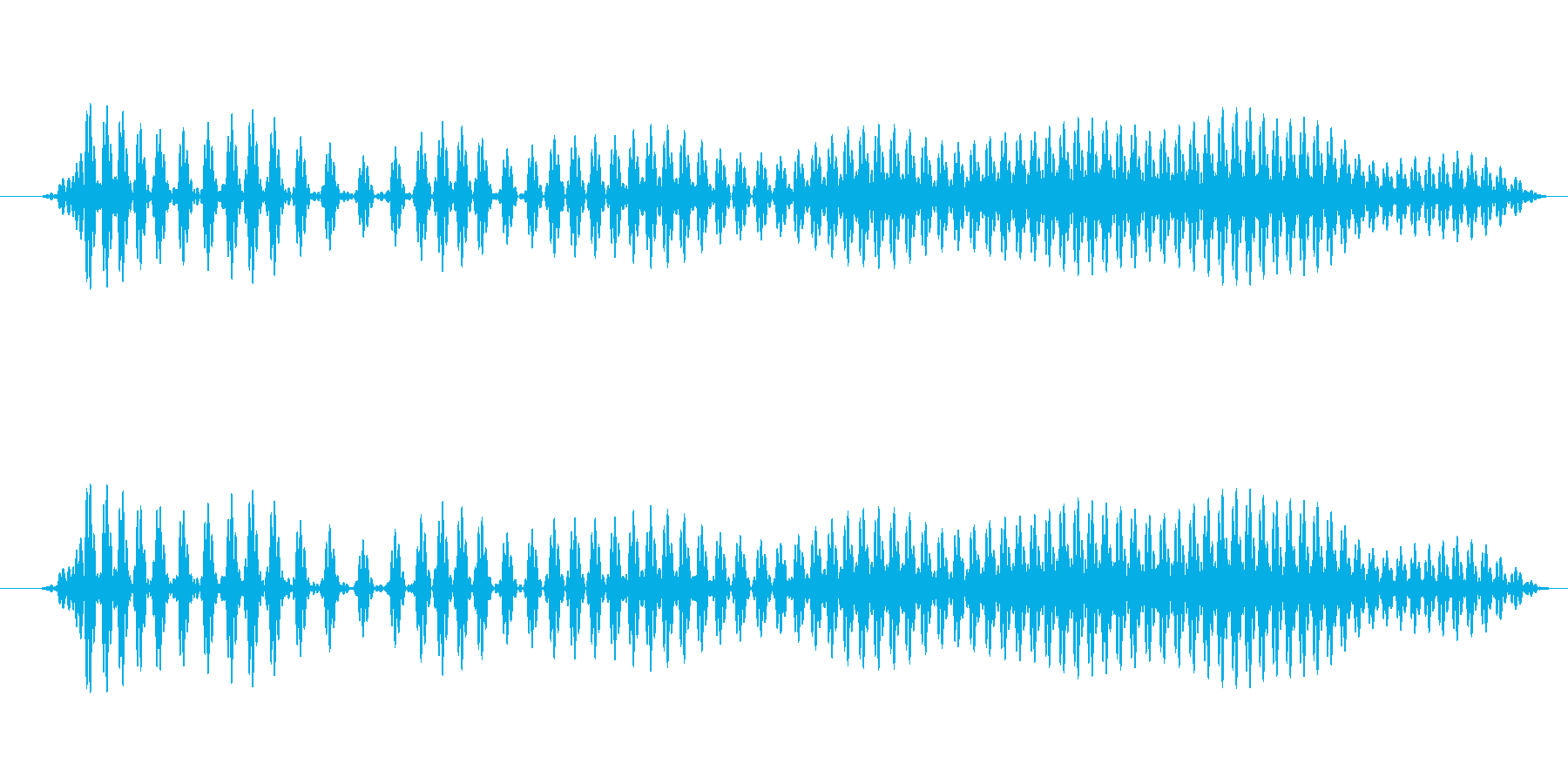 ぐう〜(お腹が減った時の音)の再生済みの波形