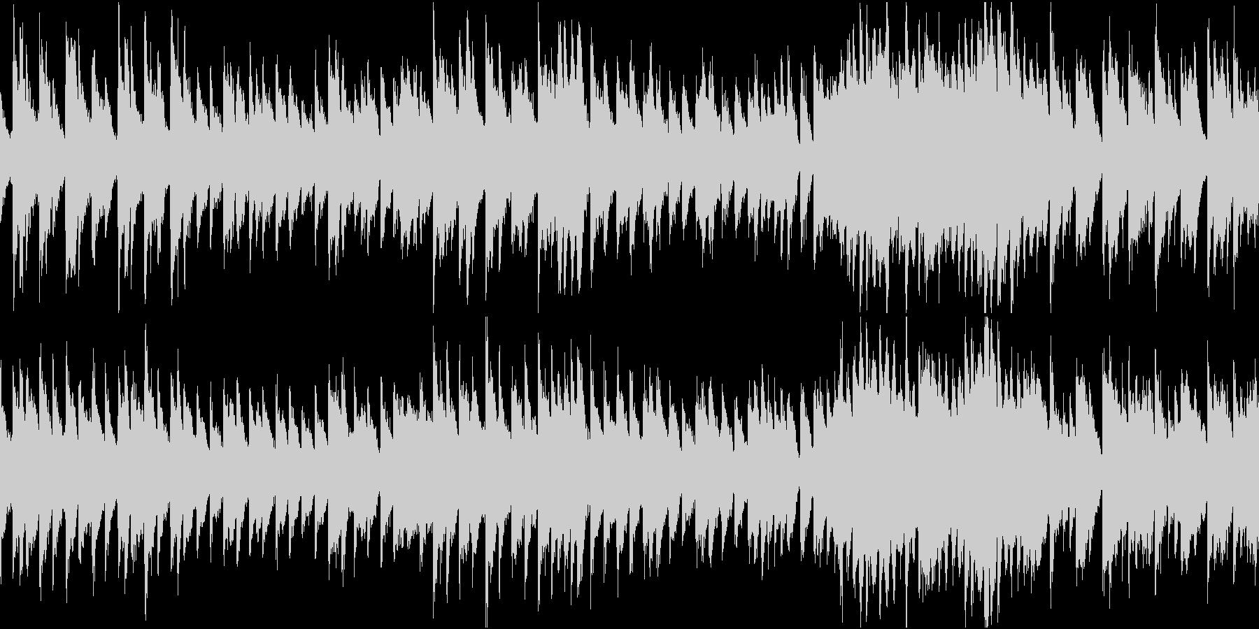 おどけた楽しい感じのピアノソロのテーマ曲の未再生の波形