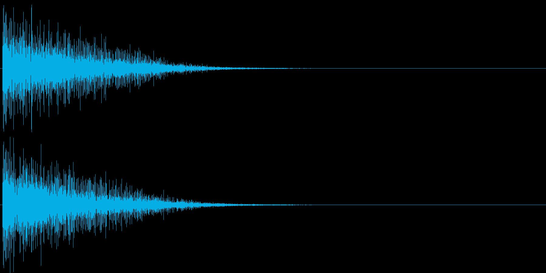 バン。発砲音Aの再生済みの波形