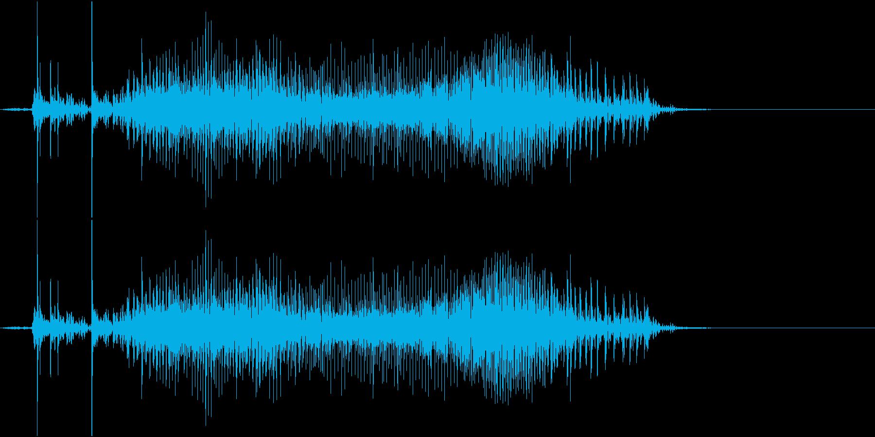 Zip ファスナーを開ける音の再生済みの波形