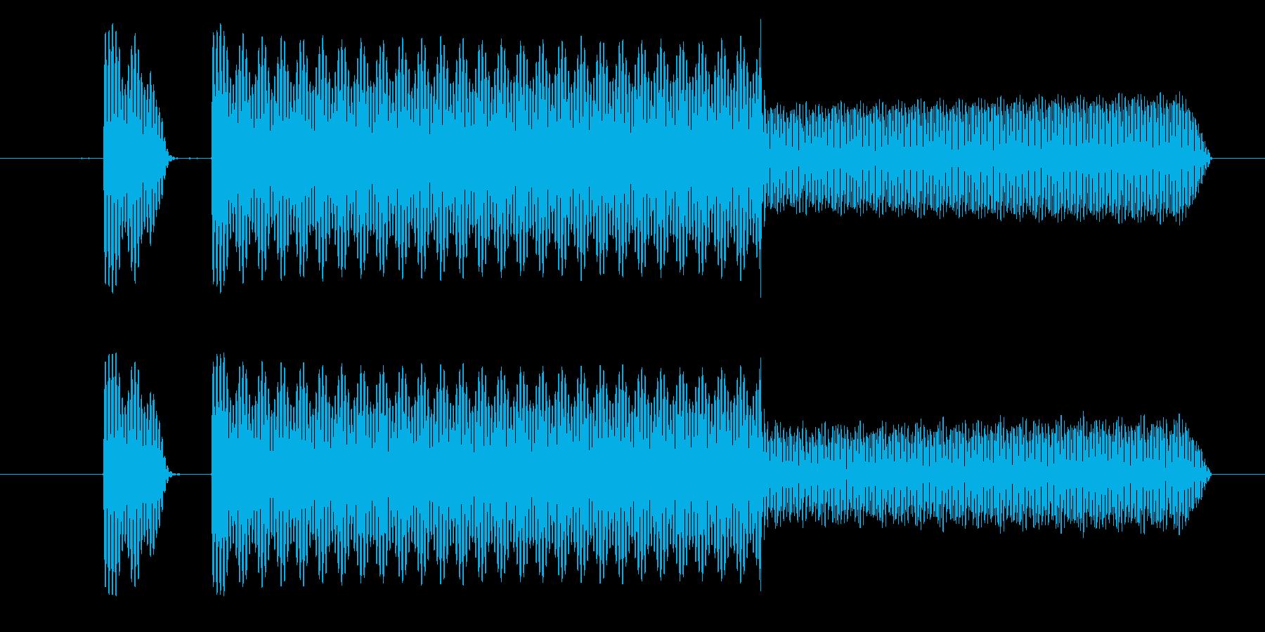 ピロ!決定/ボタン/クリック効果音!02の再生済みの波形