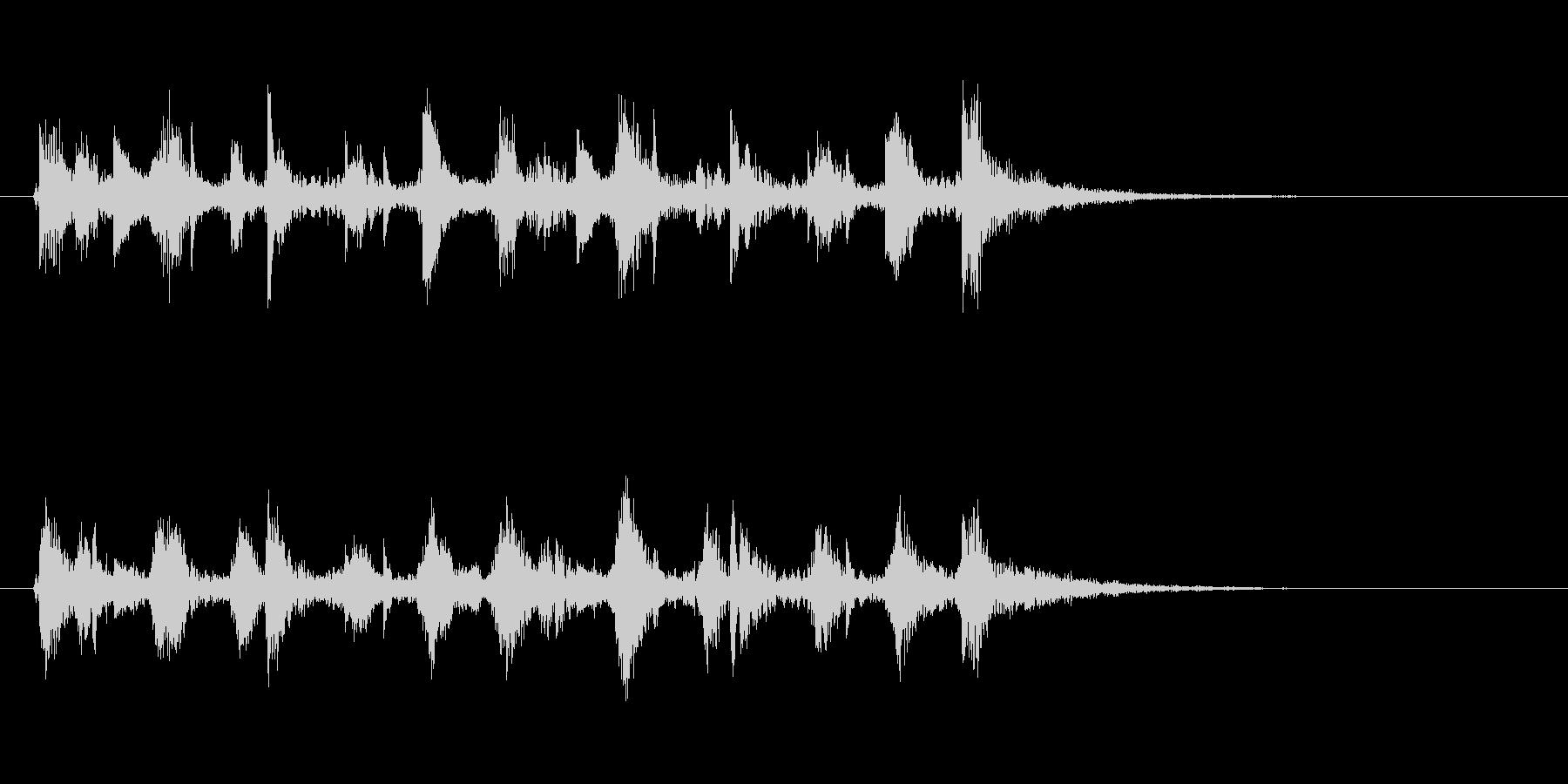 ピチカート音の清涼感のあるジングルの未再生の波形