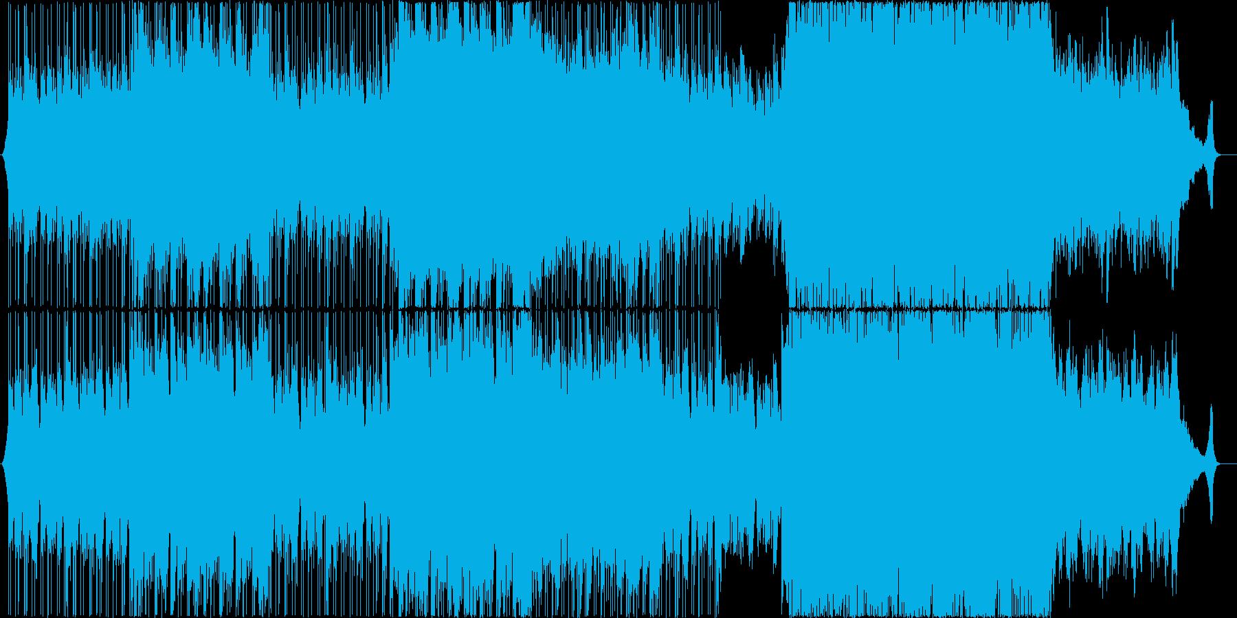 綺麗なアコースティックヒップポップの再生済みの波形