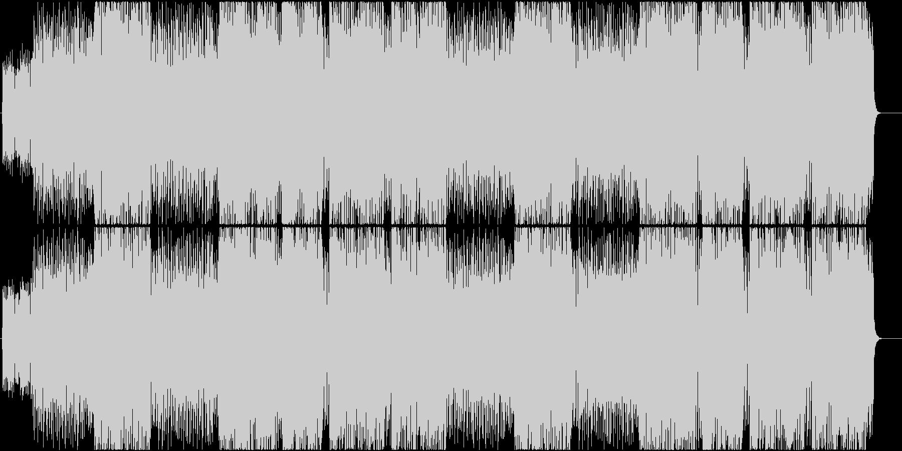 激しいスタイリッシュアクション曲の未再生の波形