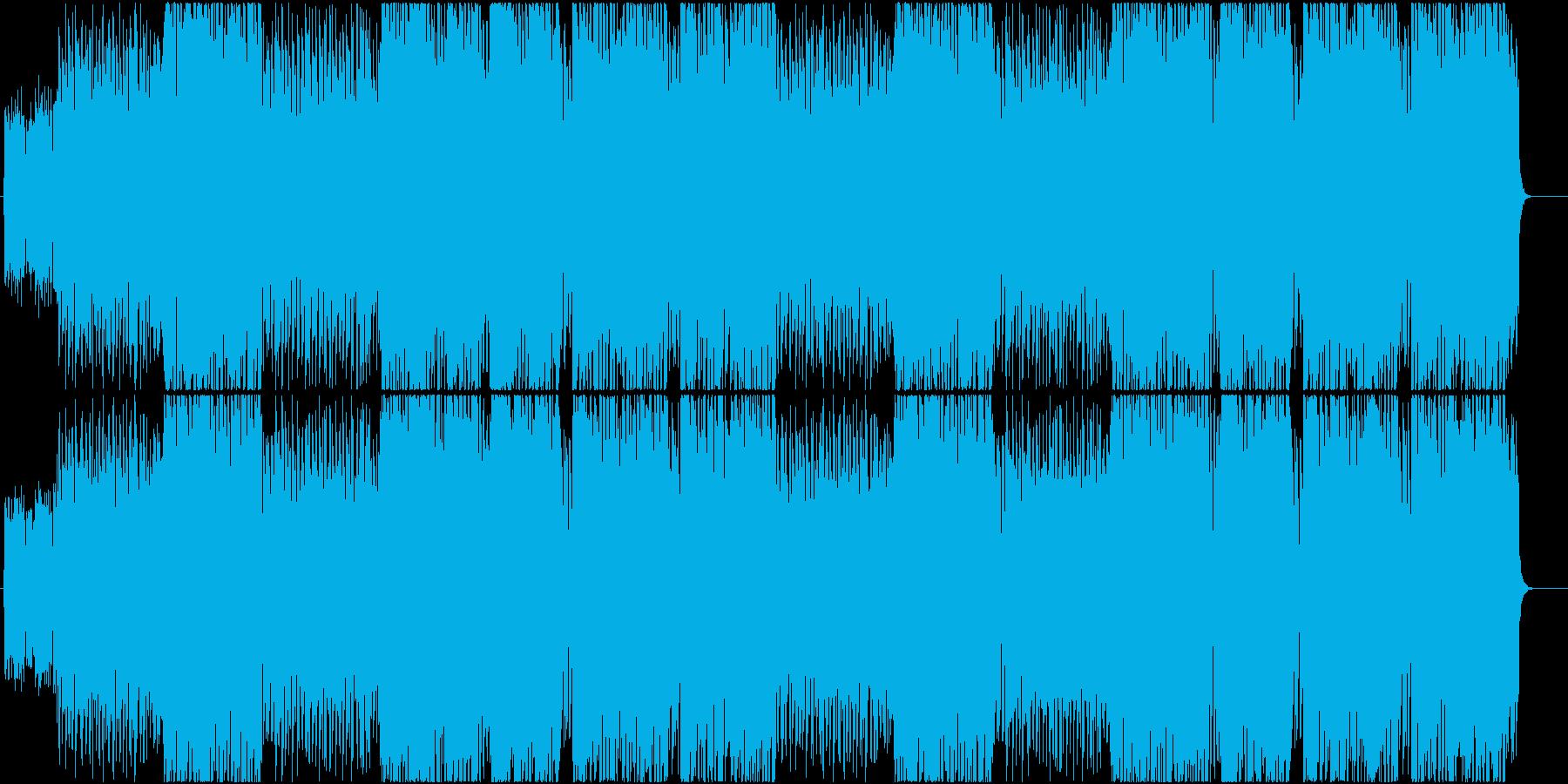 激しいスタイリッシュアクション曲の再生済みの波形