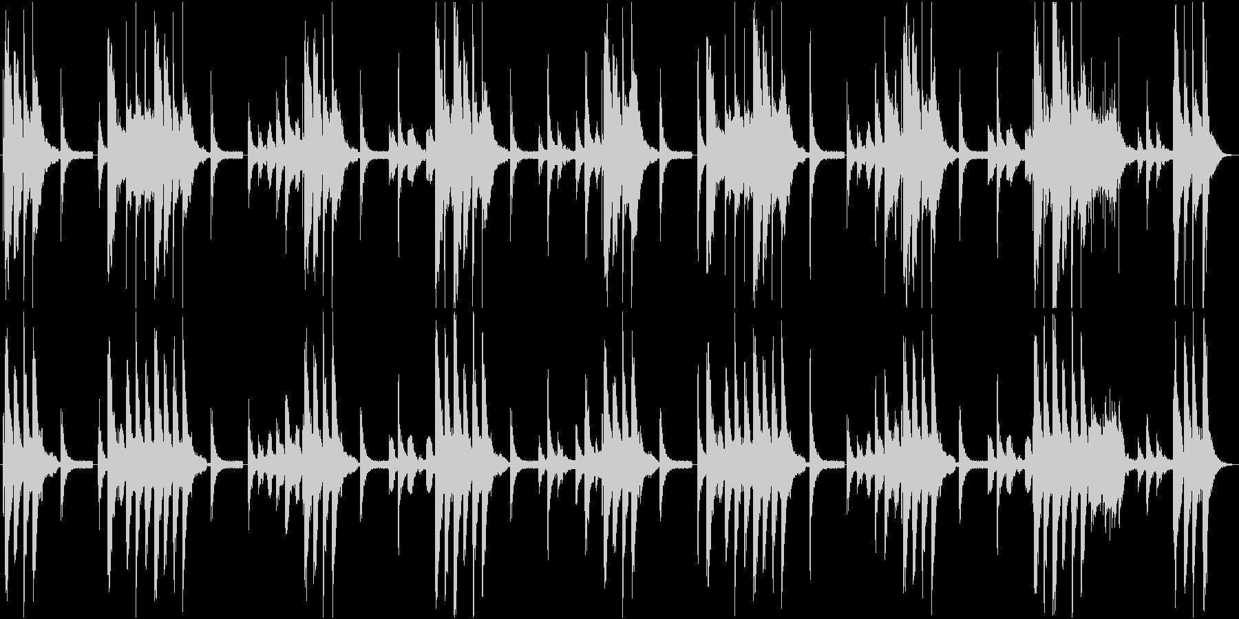 ほのぼの系BGMの未再生の波形