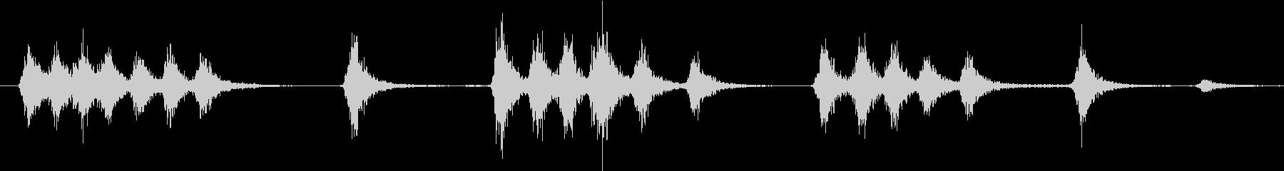 ワンワン(夜の街での犬の鳴き声)の未再生の波形