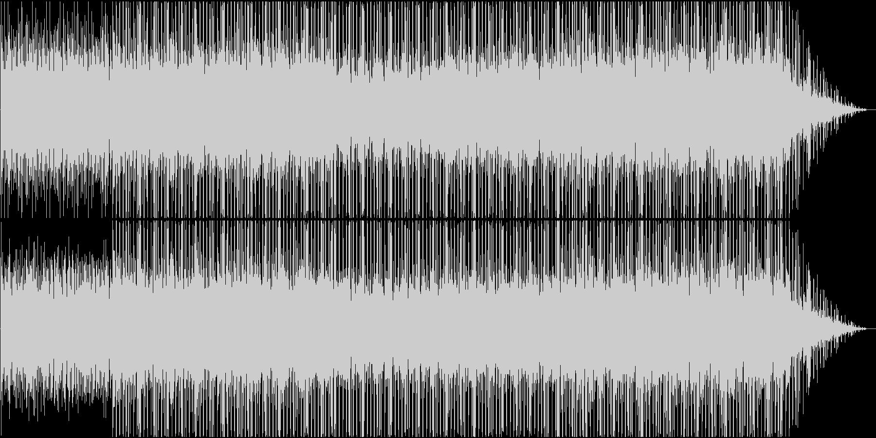 コンピューターグラフィックなどに合う曲の未再生の波形
