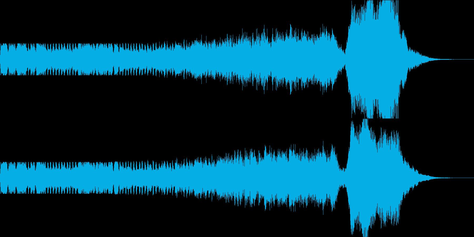 キレの良い動画などで使えるBGMですの再生済みの波形