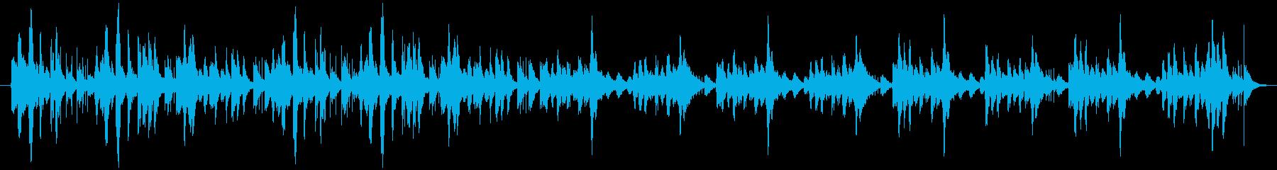 弾けているようなかわいらしいBGMの再生済みの波形