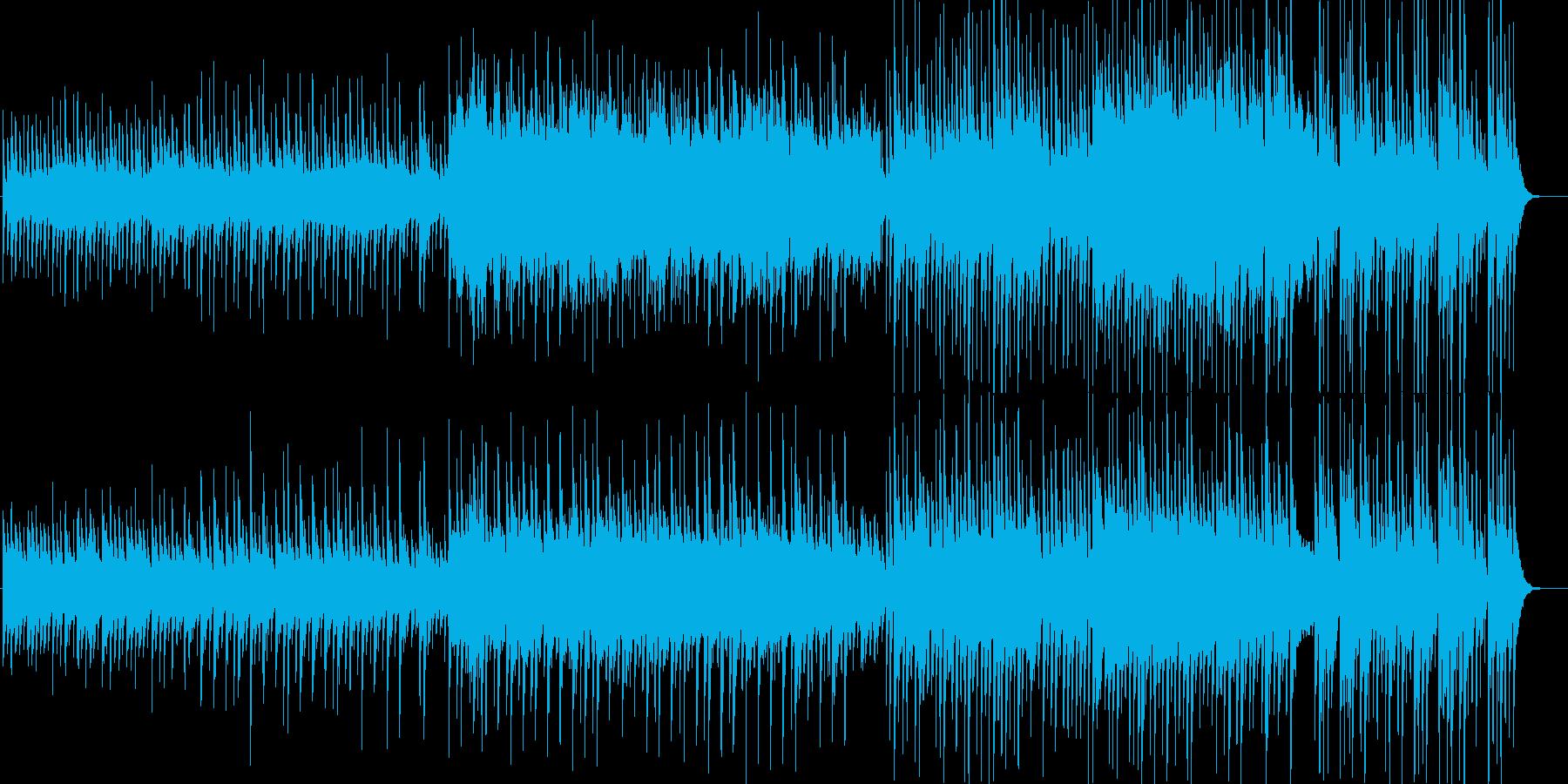 浮遊感のある淡々として不思議なBGMの再生済みの波形