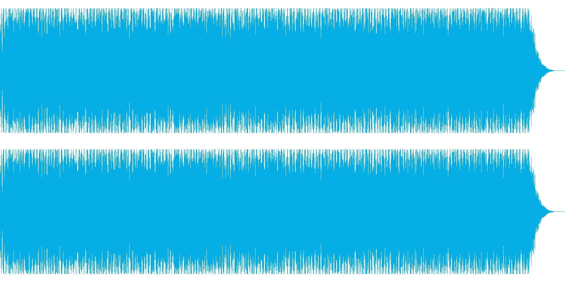 特撮怪獣が現れるイメージの再生済みの波形