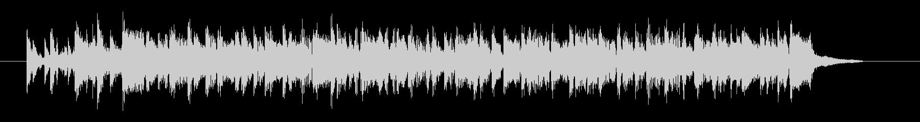 軽やかなサンバ調のシンセ曲の未再生の波形