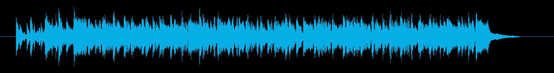 軽やかなサンバ調のシンセ曲の再生済みの波形