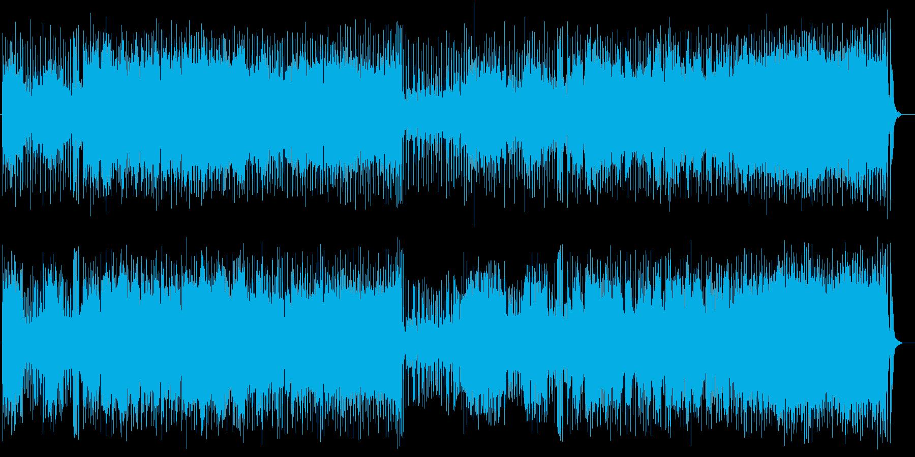 軽快なサンバのポップスの再生済みの波形