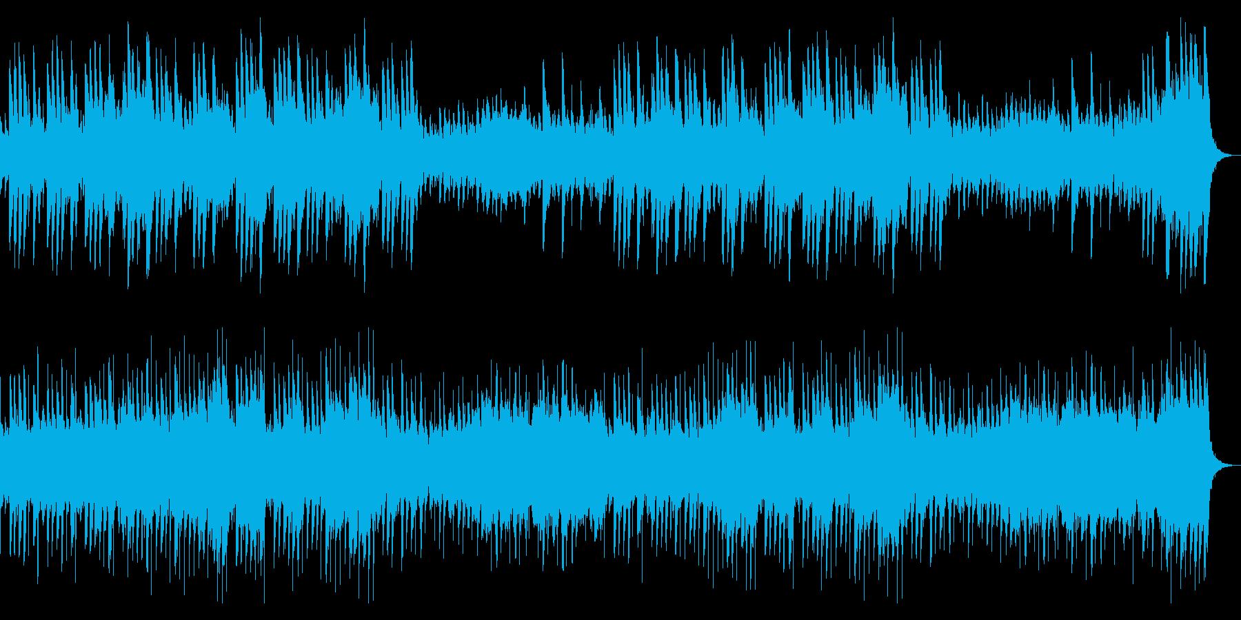 ダーク、ホラー向けハープとストリングスの再生済みの波形