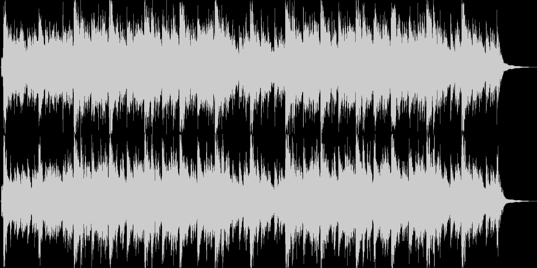 明るいイメージのオーケストラジングル。の未再生の波形