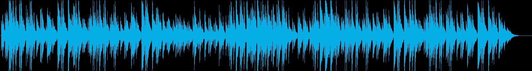 分かりやすいメロディーラインのポップスの再生済みの波形