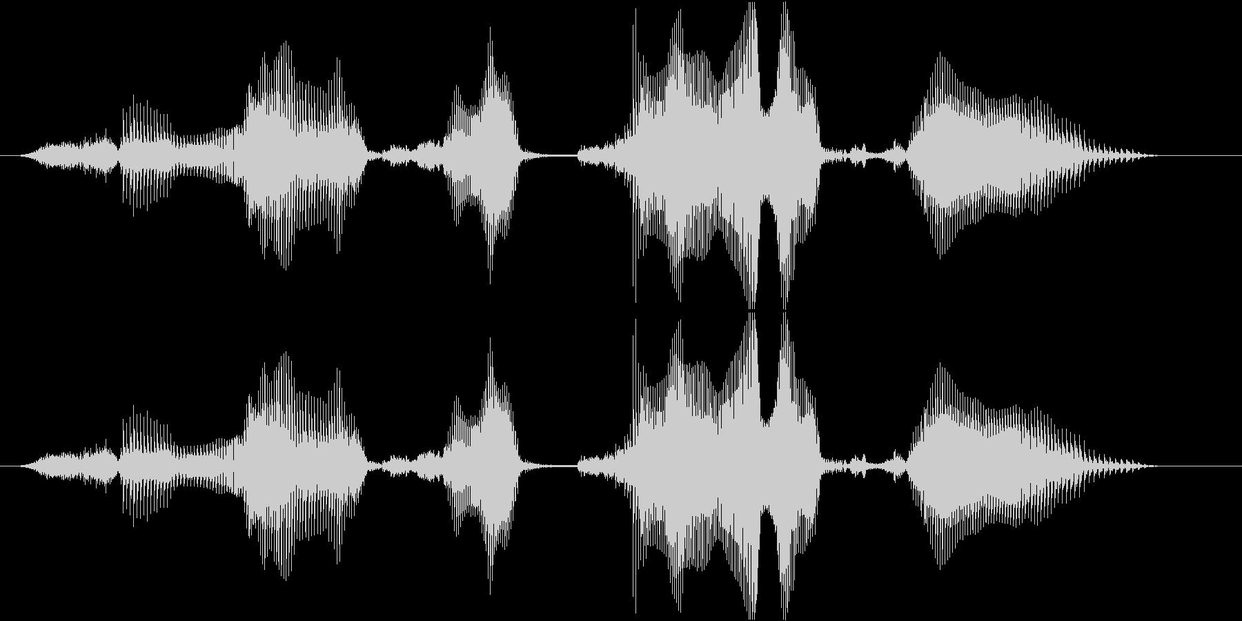 キャラクターセレクトの未再生の波形