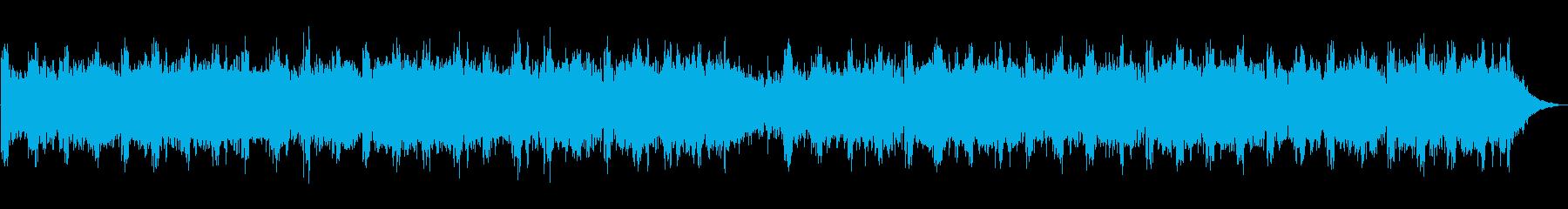 静かで近未来的なパズルゲーム風BGMの再生済みの波形