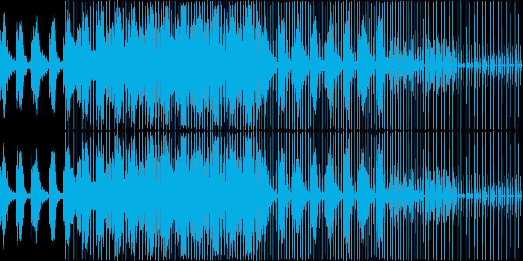 暗めな曲ですの再生済みの波形