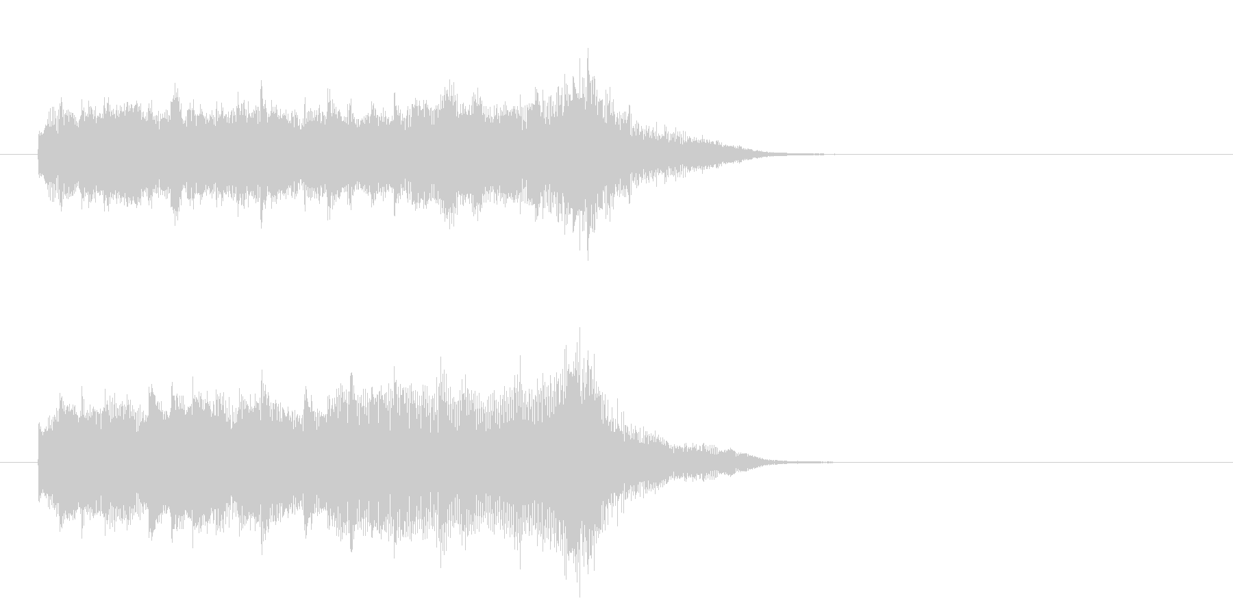 ジングル(ミステリアス)の未再生の波形