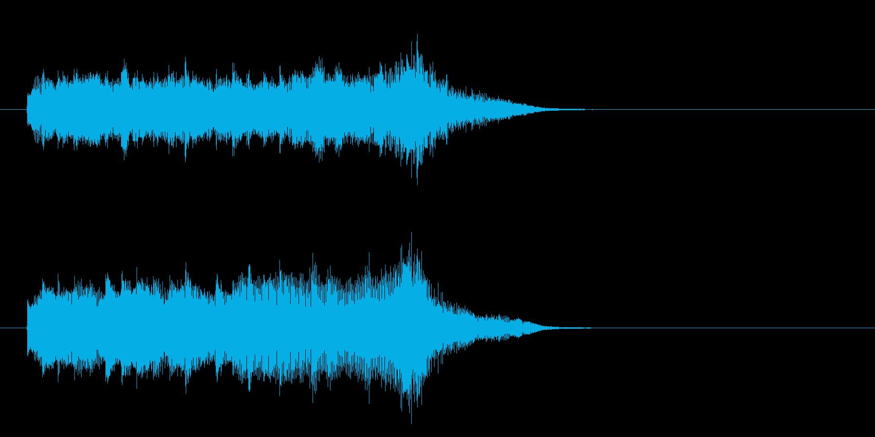 ジングル(ミステリアス)の再生済みの波形