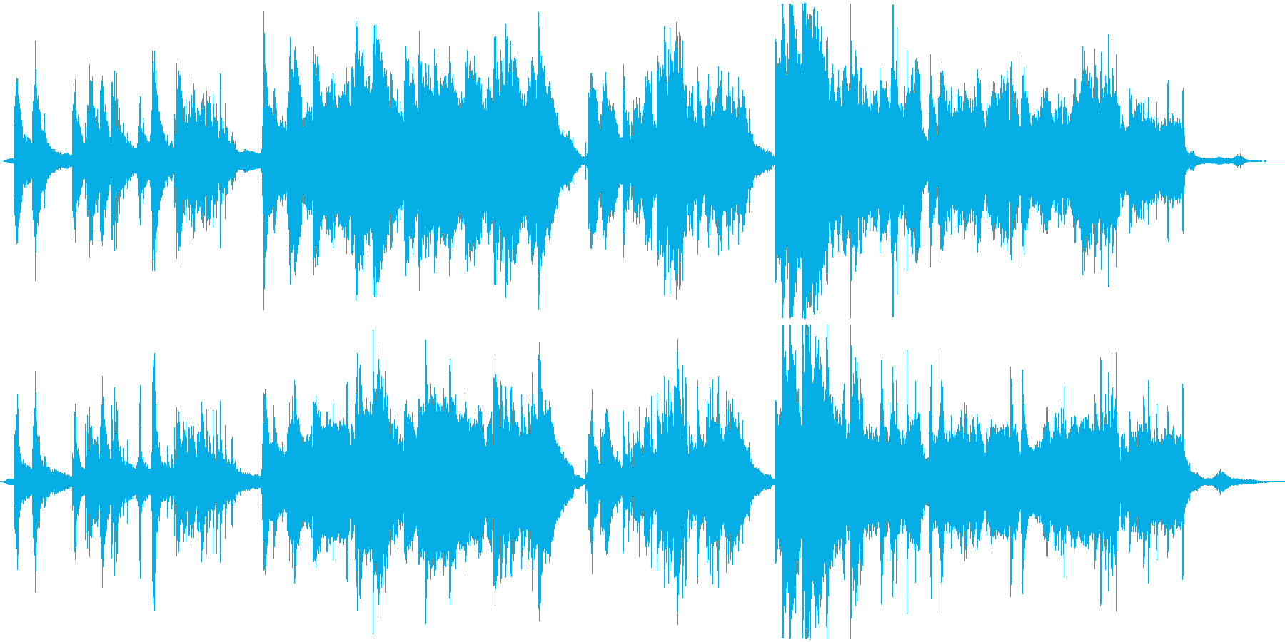 物語の導入のような幻想的なピアノの再生済みの波形