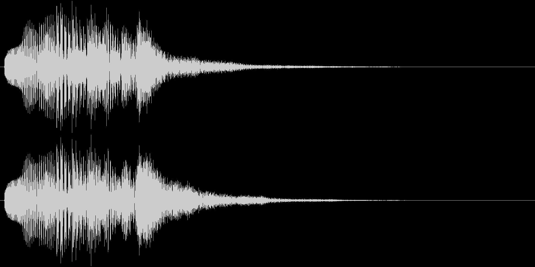 マリンバのアルペッジオの未再生の波形