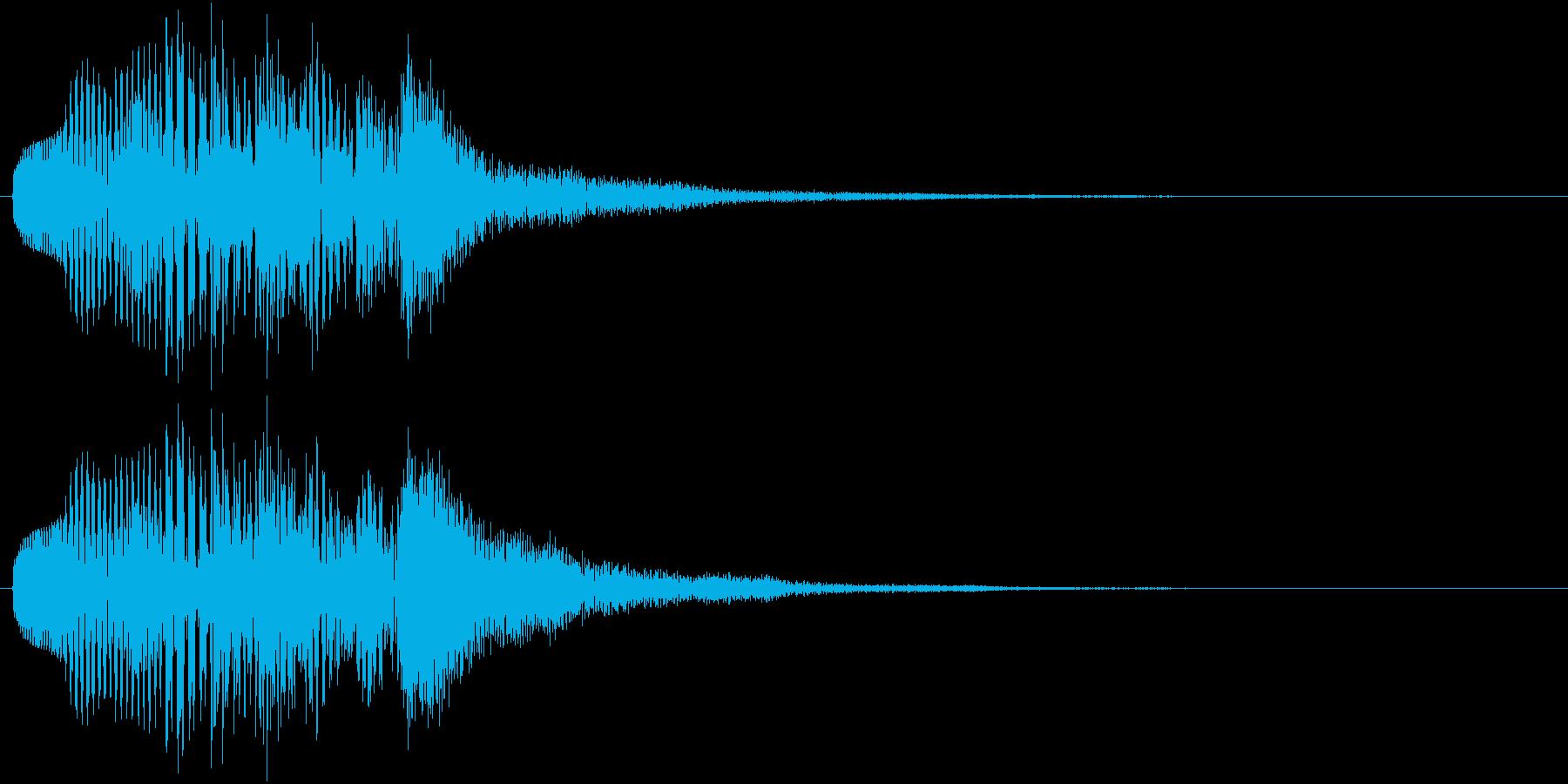 マリンバのアルペッジオの再生済みの波形