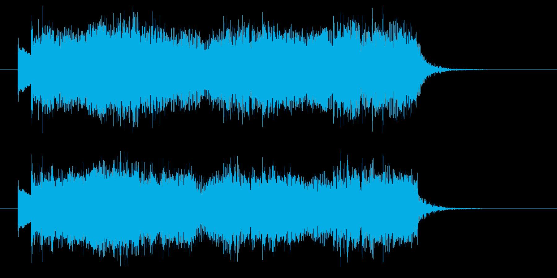 ハードロックでワイルドなジングルの再生済みの波形