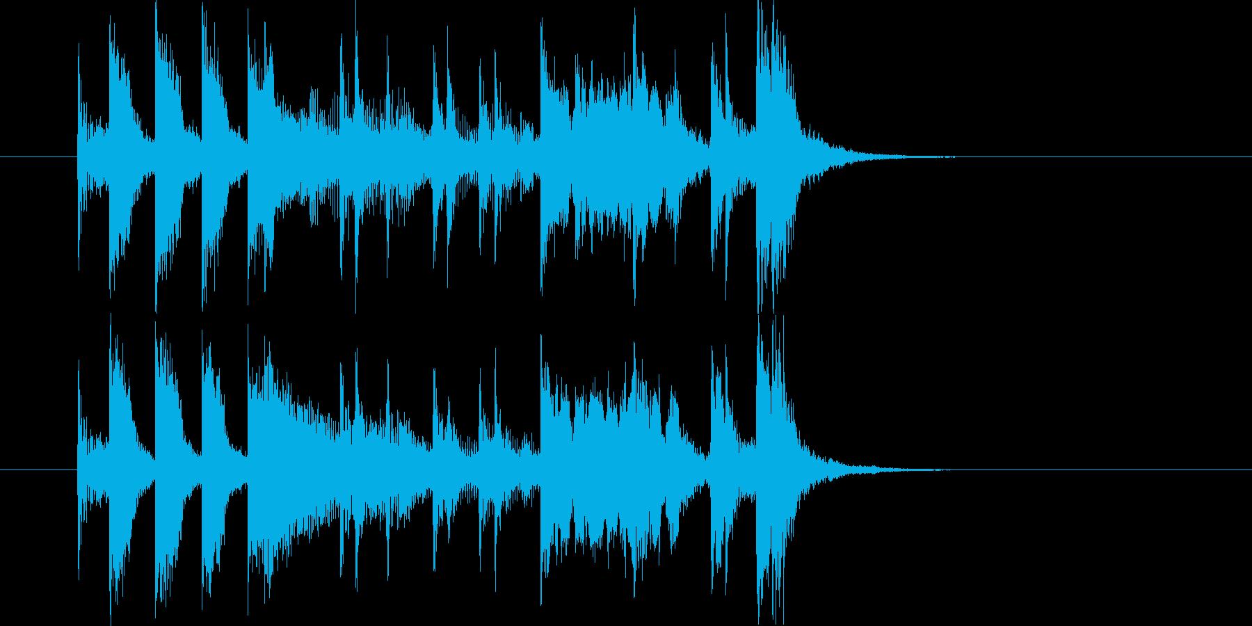 ポップでリズミカルなトランペットジングルの再生済みの波形