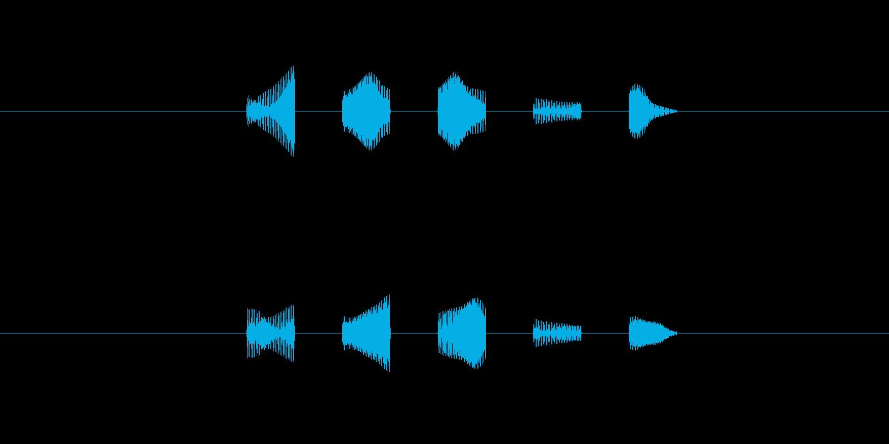 キャラの会話音の再生済みの波形
