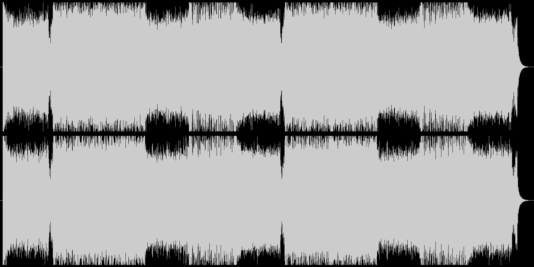 アクションゲーム等BGM(戦闘曲3)の未再生の波形