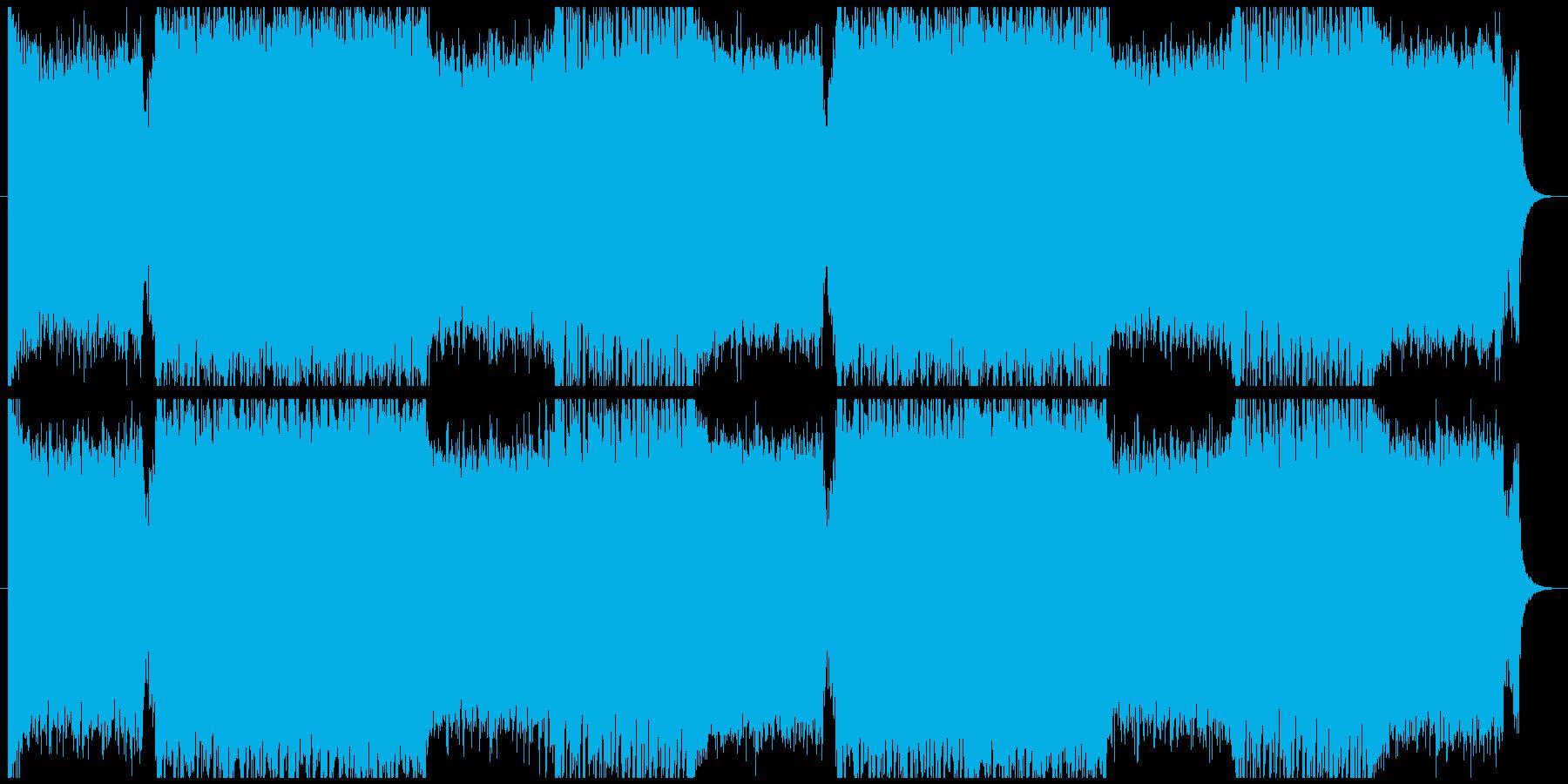 アクションゲーム等BGM(戦闘曲3)の再生済みの波形