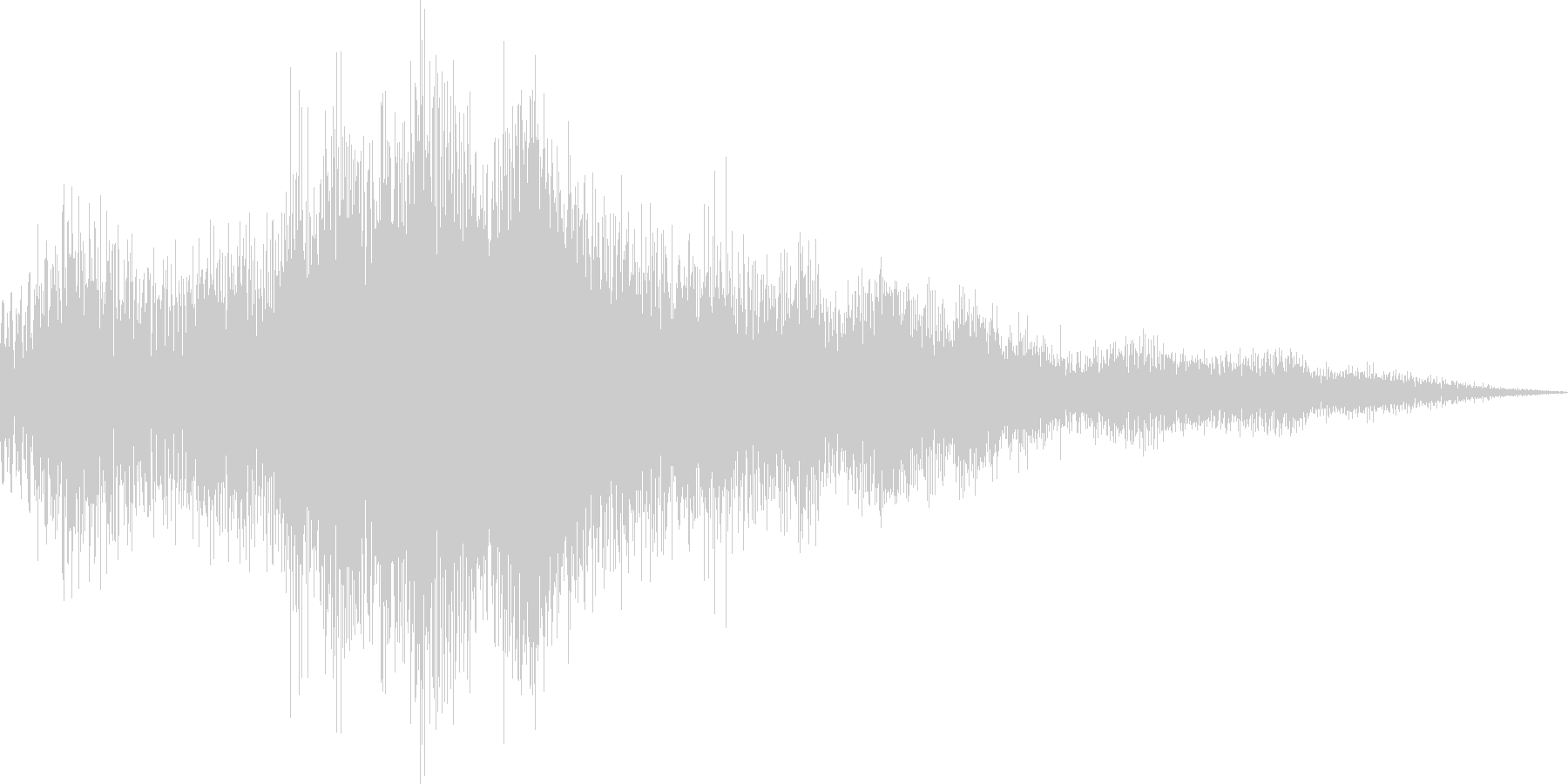 アプリ用のショートジングルの未再生の波形
