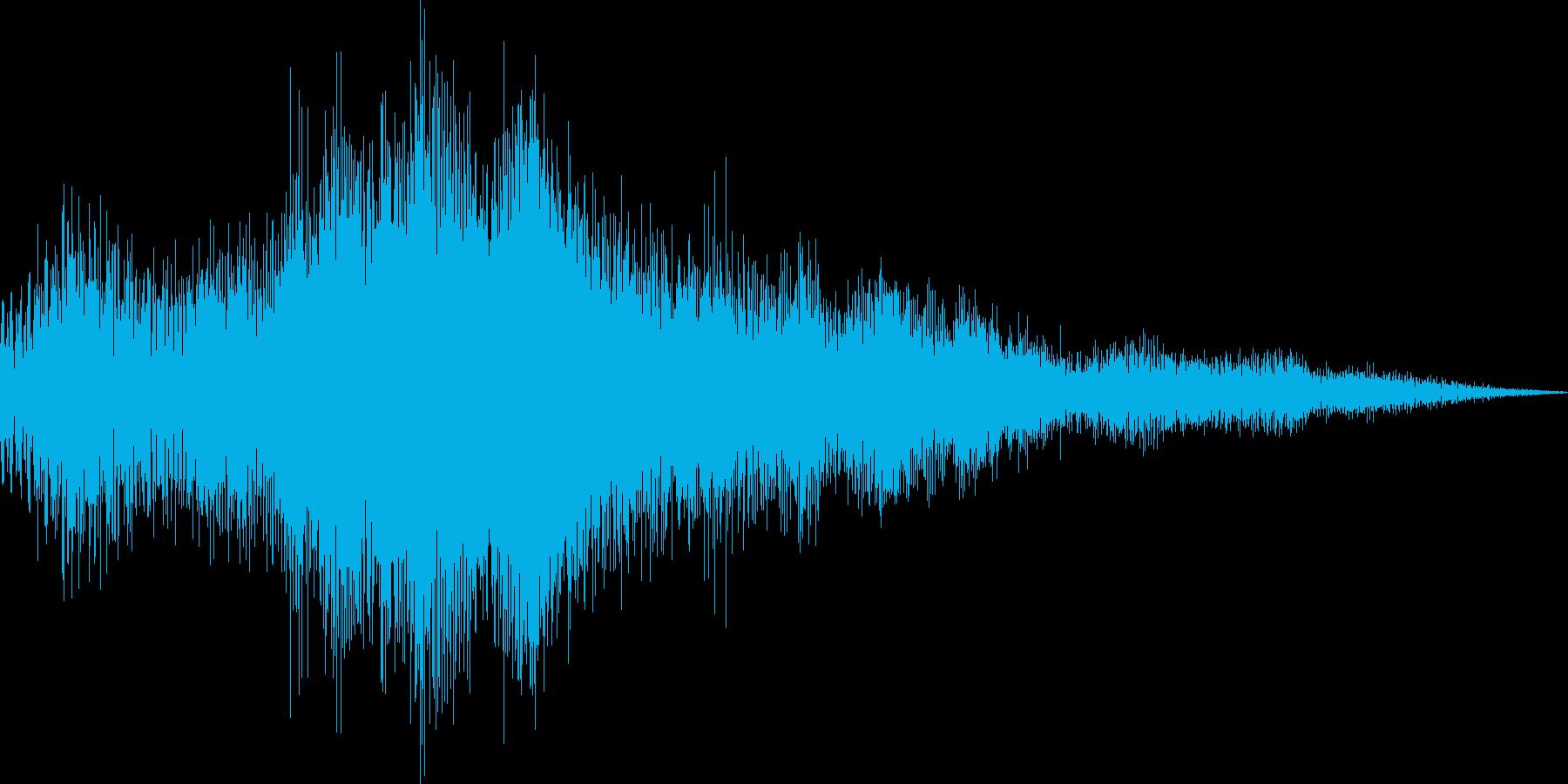 アプリ用のショートジングルの再生済みの波形