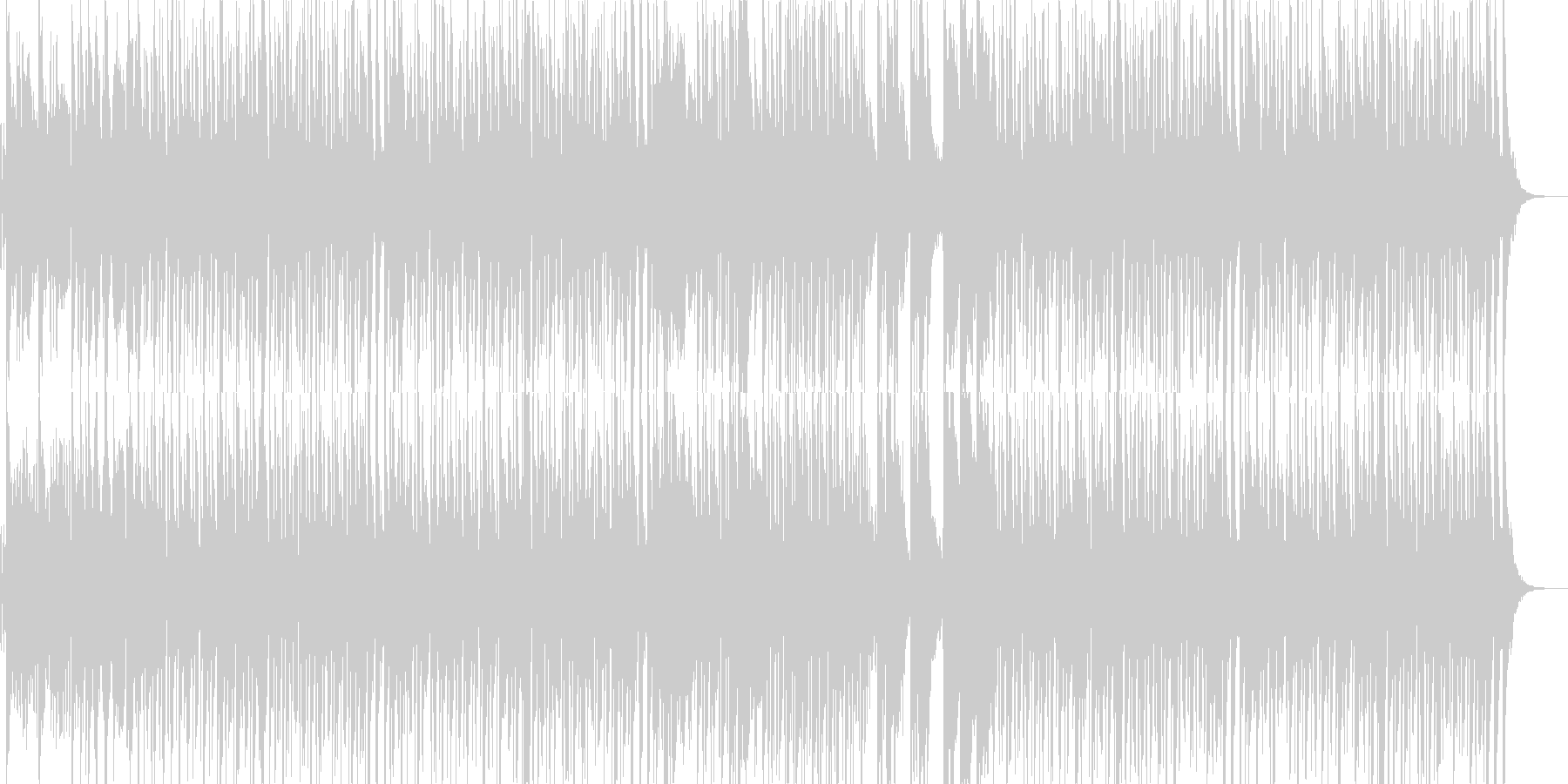 子供用のわんぱくな雰囲気のマーチBGMの未再生の波形