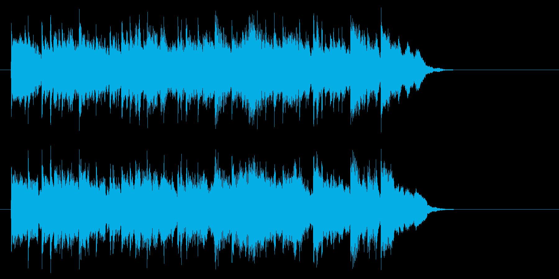安心感のあるフュージョン(イントロ)の再生済みの波形