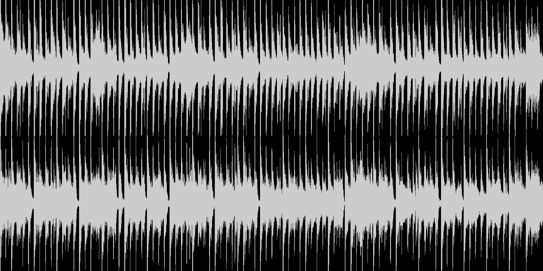 かわいい動物が走るようなドキドキする曲の未再生の波形