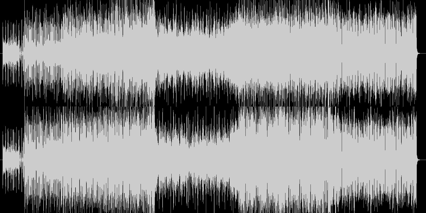 弦楽器とストリングスの入ったテクノ曲の未再生の波形