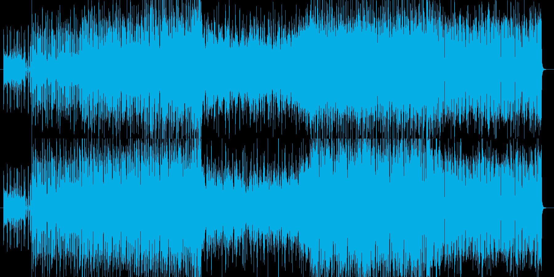 弦楽器とストリングスの入ったテクノ曲の再生済みの波形