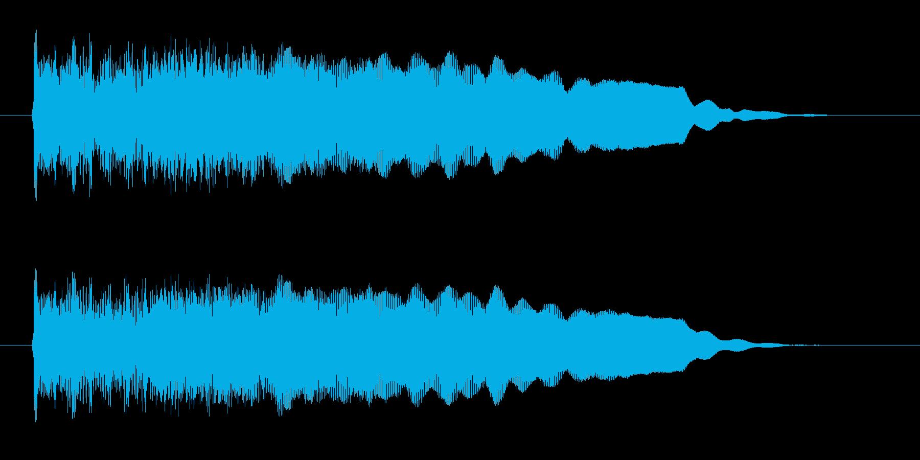 ファズ・ギターのハードロックなジングルの再生済みの波形